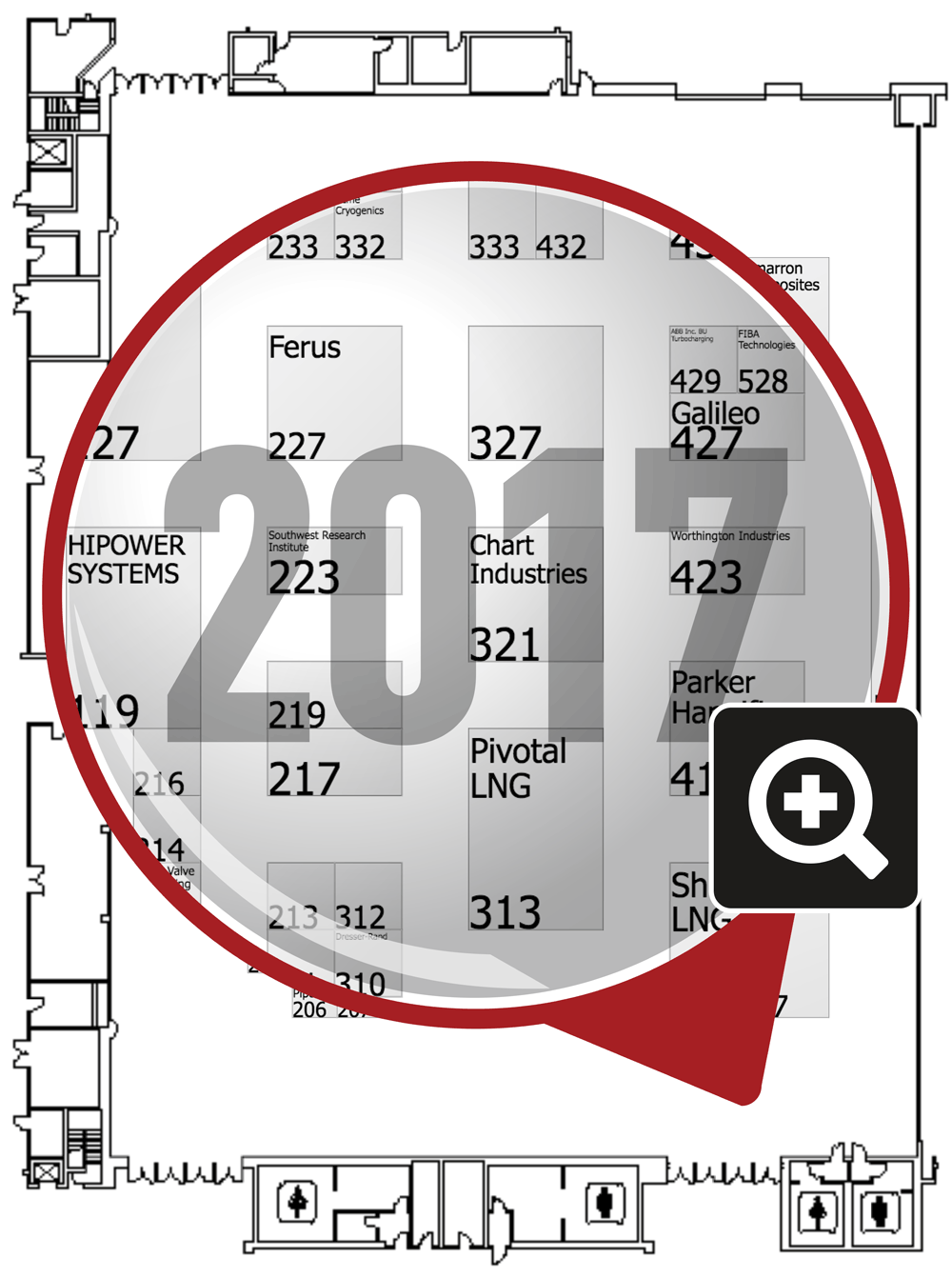 HHP2017 Expo Hall Map