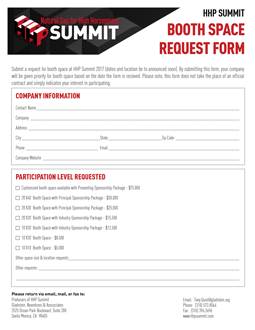 HHP Booth Space Request Form